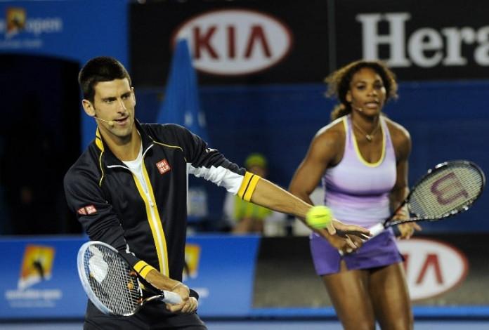 Novak Djokovic of Serbia (L) and Serena Williams of the US ©AFP