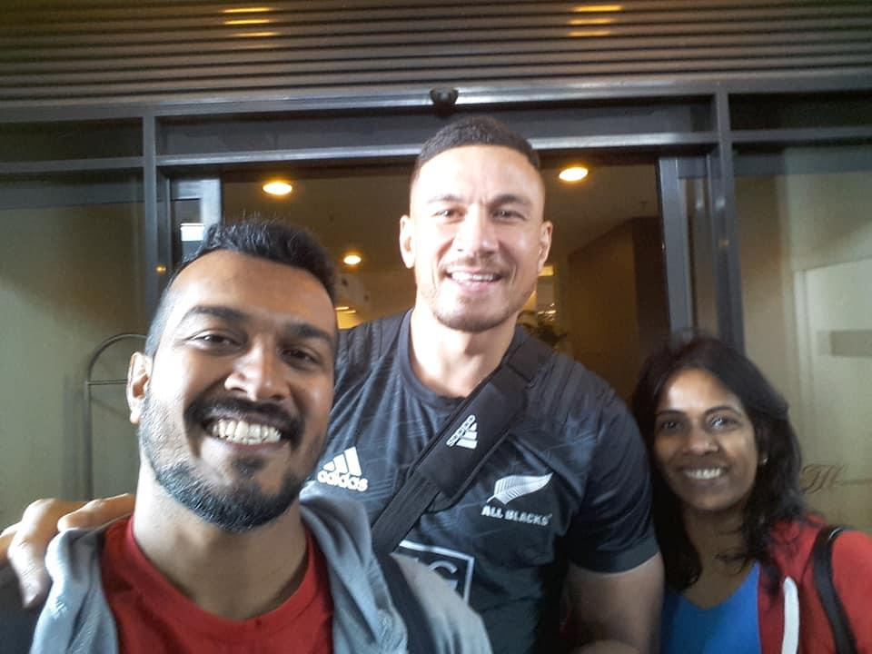 With Sunny Bill Williams at Singapore 7's 2016