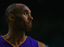 Kobe Bryant #24 of the Los Angeles Lakers looks on during the third quarter against the Boston Celtics at TD Garden ©AFP