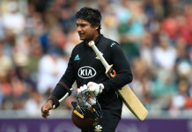 Kumar Sangakkara made 30 in Surrey's defeat to Notts in the one-day final // getty