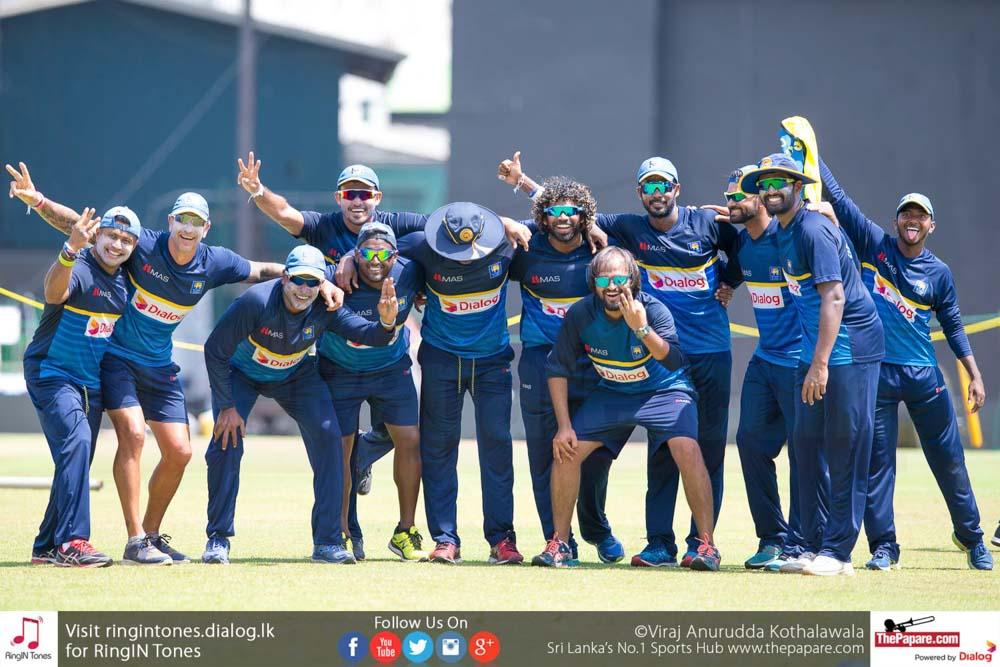 Sri Lanka Team Practices ahead of 4th ODI