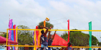 mens and women teams for Asian Beach Volleyball tournament report