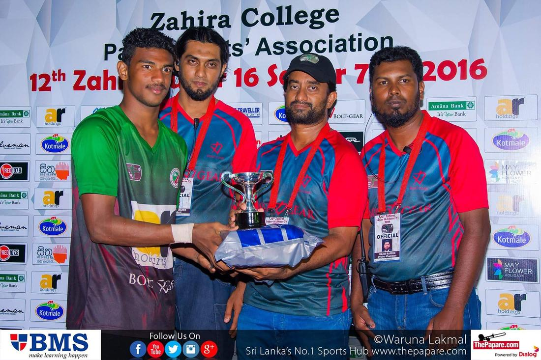12th Zahira Super 16 Soccer 7's 2016 - Zahira College Grounds - 08/10/2016 Player of the Final Mohamed Shaheel.