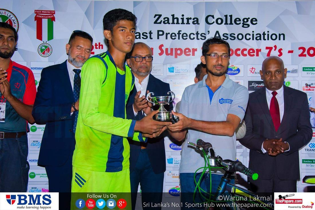12th Zahira Super 16 Soccer 7's 2016 - Zahira College Grounds - 08/10/2016 Best goalkeeper Mohamed Nifras.