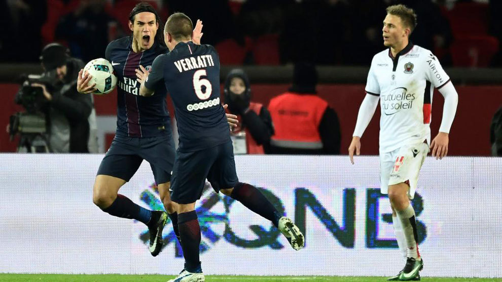 Nice back on top of Ligue 1 with 2-2 draw at PSG