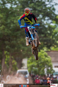 Ishan Dissanayake during the Racing Motocross bikes over 100cc up to 125cc event