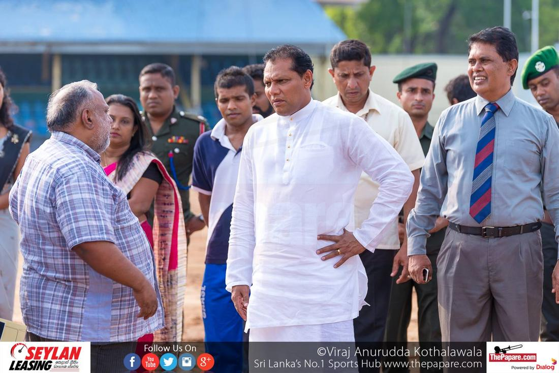 Sports Minister Inspects Sugathadasa Stadium