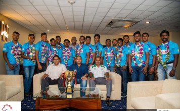 Arrival of U20 Asian 7's Champions