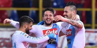 Hamsik and Mertens hit hat-tricks as Napoli thrash Bologna