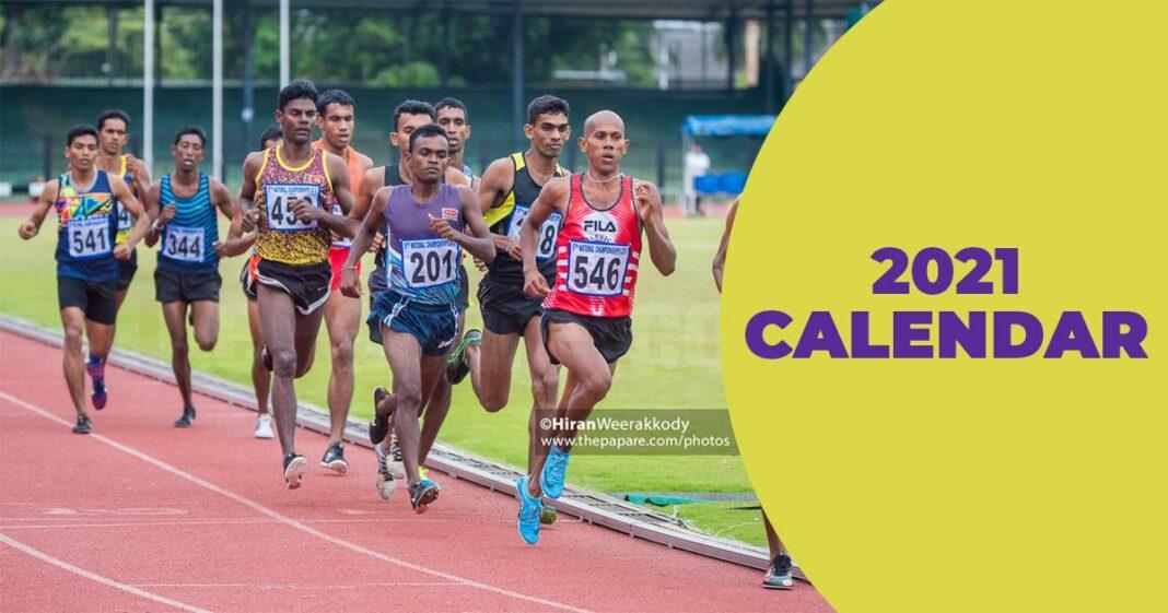 2021 Athletics Calendar