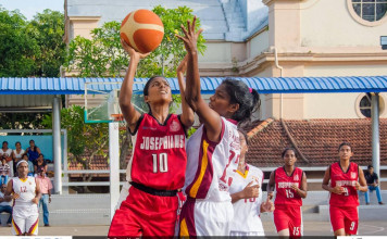 St.Joesph`s Girls School v St.Lawrence Convent (ThePapare Basketball Championship 2016)