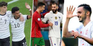 Sweden vs Poland, Slovakia vs Spain, Germany vs Hungary, Portugal vs France