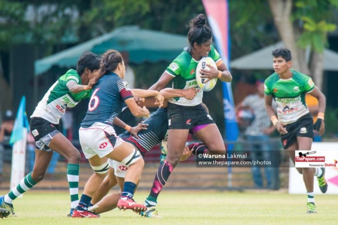 Sri Lanka's Thanuja Weerakkody in action