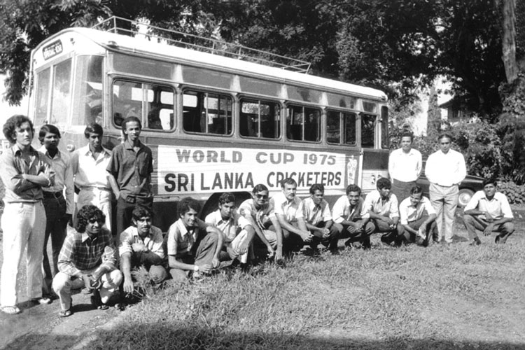 The Sri Lankan team which Anura Tennekoon captained at the 1975 World Cup