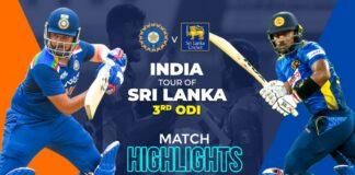 India tour of Sri Lanka 2021 | 3rd ODI – Match Highlights