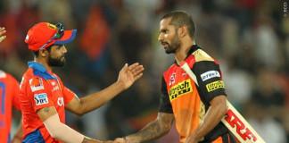 Ravindra Jadeja congratulates Shikhar Dhawan