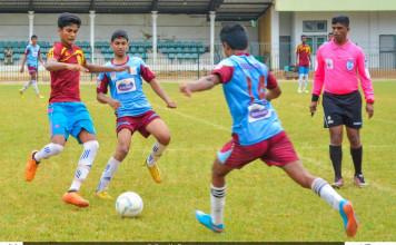 Dharmaraja College v St.Joseph Vaz - Schools Football 2016