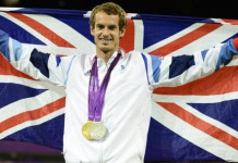 Andy Murray beat Roger Federer 6-1 6-2 6-4 to win gold in the men's singles at London 2012