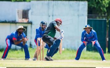 Cricket Match between Sampath Bank vs Commercial Credit of 25th Singer MCA Premier League.