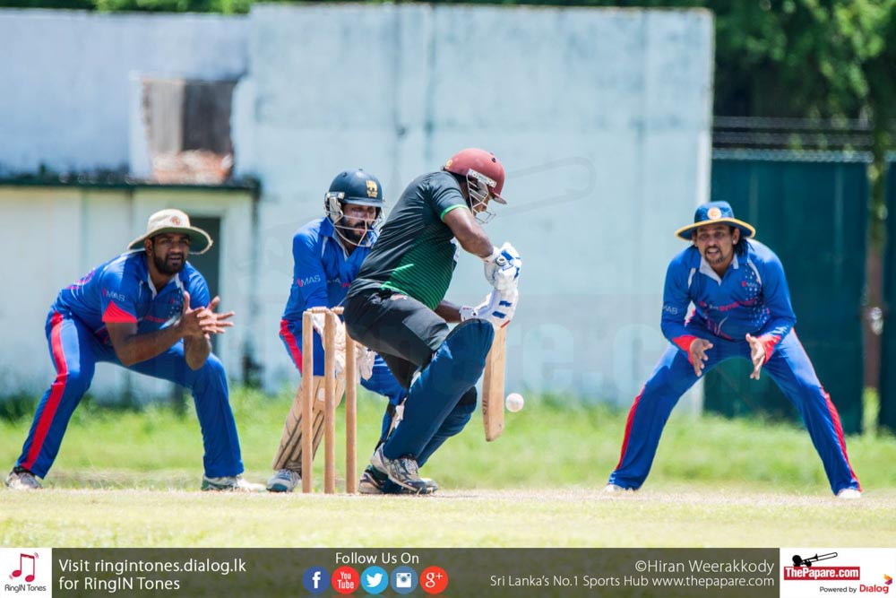Cricket Match between Sampath Bank vs Commercial Credit of 25th Singer MCA Premier League.