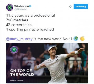 Andy Murray has won Wimbledon twice in his career