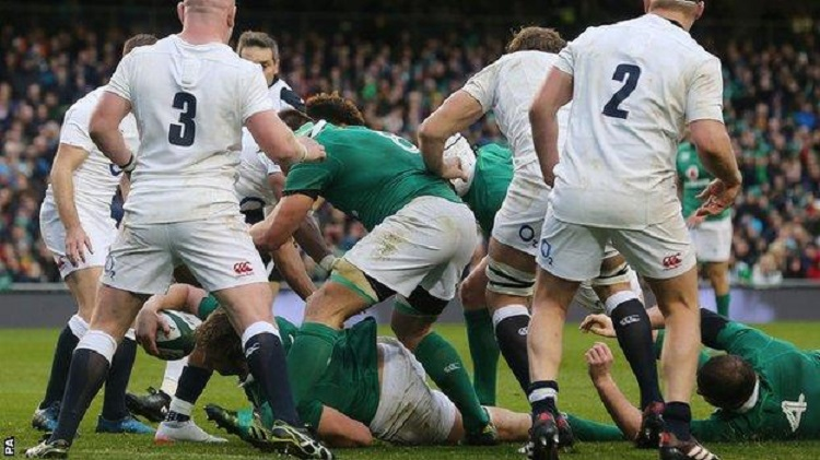 Iain Henderson scored the only try of the game, drilling over from a close range line-out