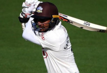 Kumar Sangakkara made the 57th century of his first-class career, his 10th in English county cricket - and his seventh for Surrey