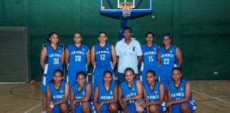 Air Force SC Women's Basketball Team 2017