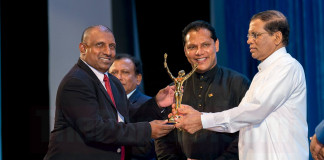Aravinda De Silva at the Presidential Sports Awards 2016