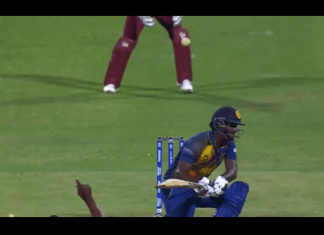 Bravo dismisses Angelo Mathews in most remarkable manner