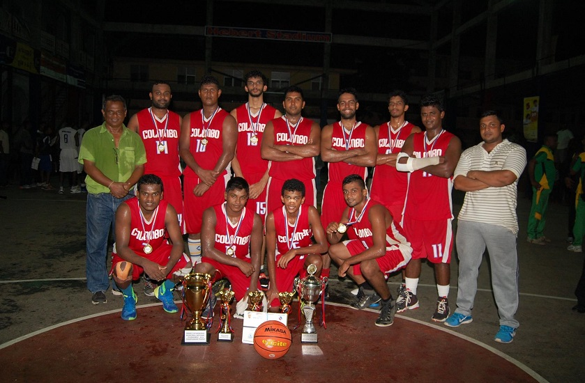Colombo District Basketball Club after winning the trophy in 2016