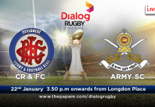 Cr & FC v Army SC – Dialog Rugby 16/17 – 22nd Jan