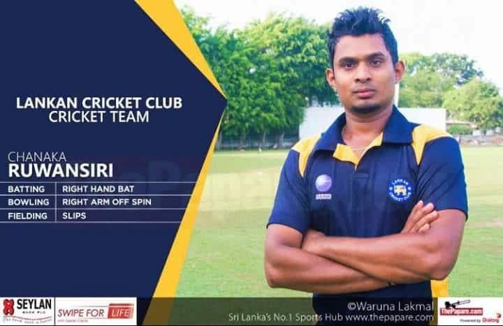 Chanaka Ruwansiri's ton keeps Lankan Cricket Club high on