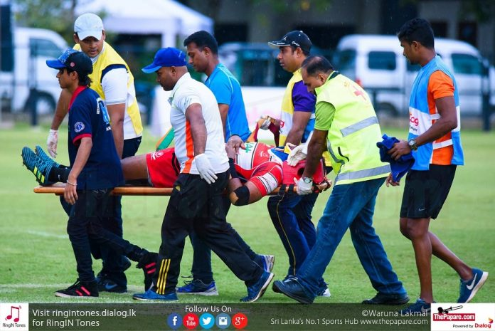 Chathura Dilshan sustained a head injury