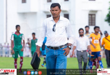 Colombo FC & Zahira College Head Coach Mohamed Roomy in the U19 Div I match between Zahira College & St.Peter's College