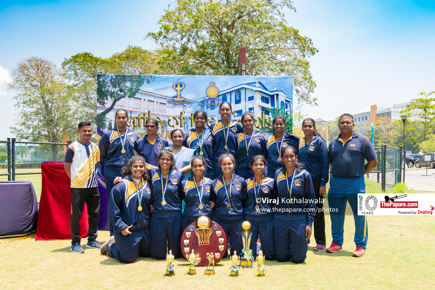 VISAKHA VIDYALAYA winners battle of the golds netball encounter