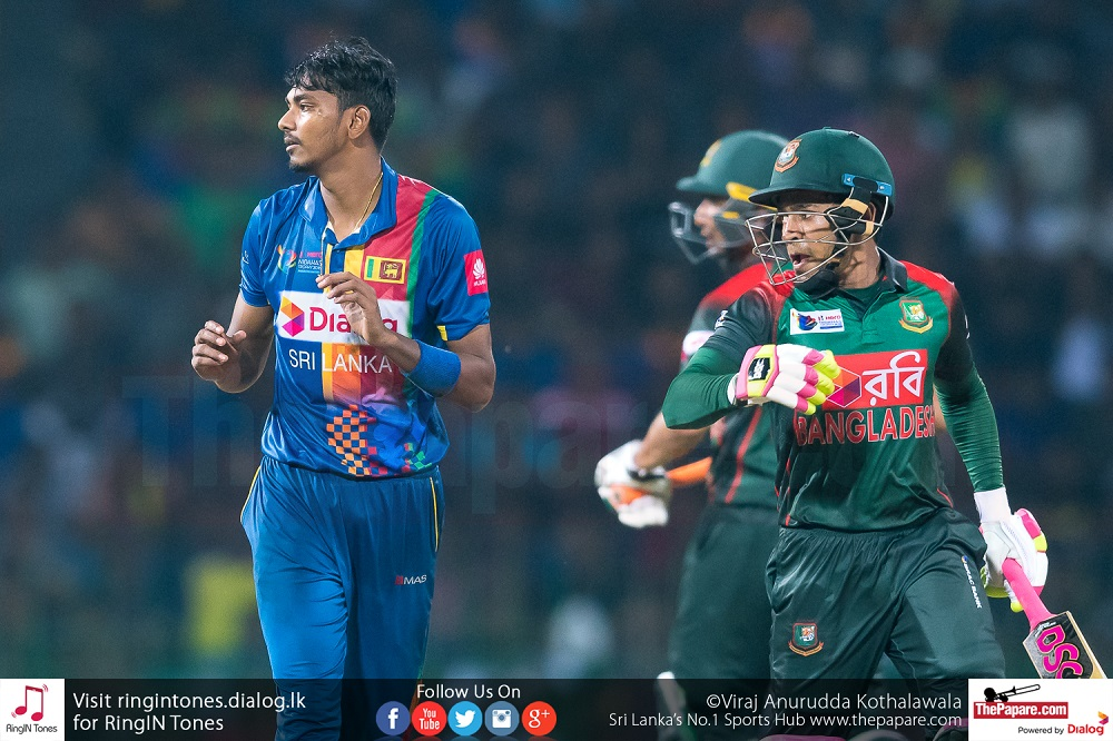 Our bowling was below par today - Chandimal