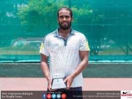 Sharmal Dissanayake Crowned Mens National Tennis Champion