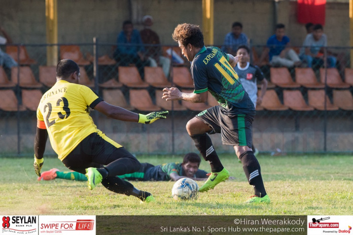 Mercantile Football Expo Lanka team vs LB Finance team
