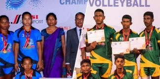 Galigamuwa Central & St. Xavier's DSI Volleyball U17 champions