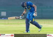 Disappointed SL U19 Batsman