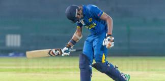 Disappointed SL U19 Batsman