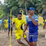 Head Coach Nizam Packeer Ali on beach training