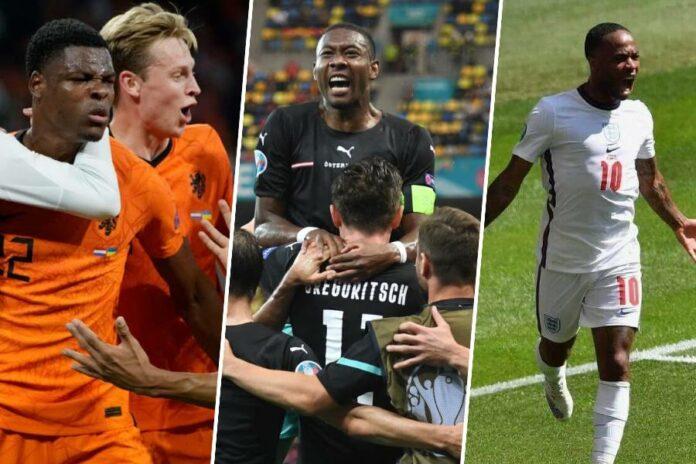 England vs Croatia, Austria vs North Macedonia, Netherlands vs Ukraine