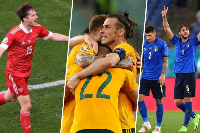 Finland vs Russia, Turkey vs Wales, Italy vs Switzerland
