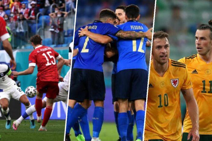 Finland v Russia, Turkey v Wales, Italy v Switzerland