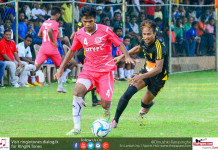 Fahim Nizamdeen (L) in control of the ball chased by Colombo FC's Zarwan Johar - City FL President's Trophy