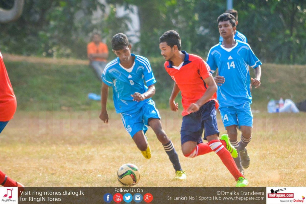Gampola FL's Mohamed Shimark in control of the ball