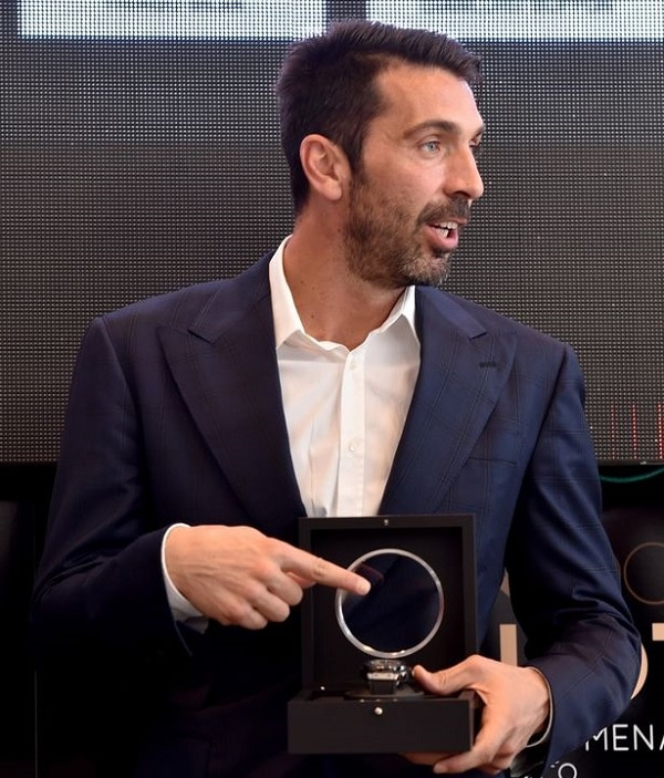 Gianluigi Buffon is awarded the 2016 Golden Foot award, as voted by fans