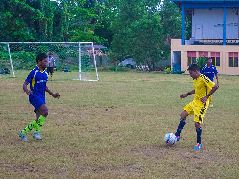 Great Star player in possession of the ball (Photo - Ranmina Jayasinghe)